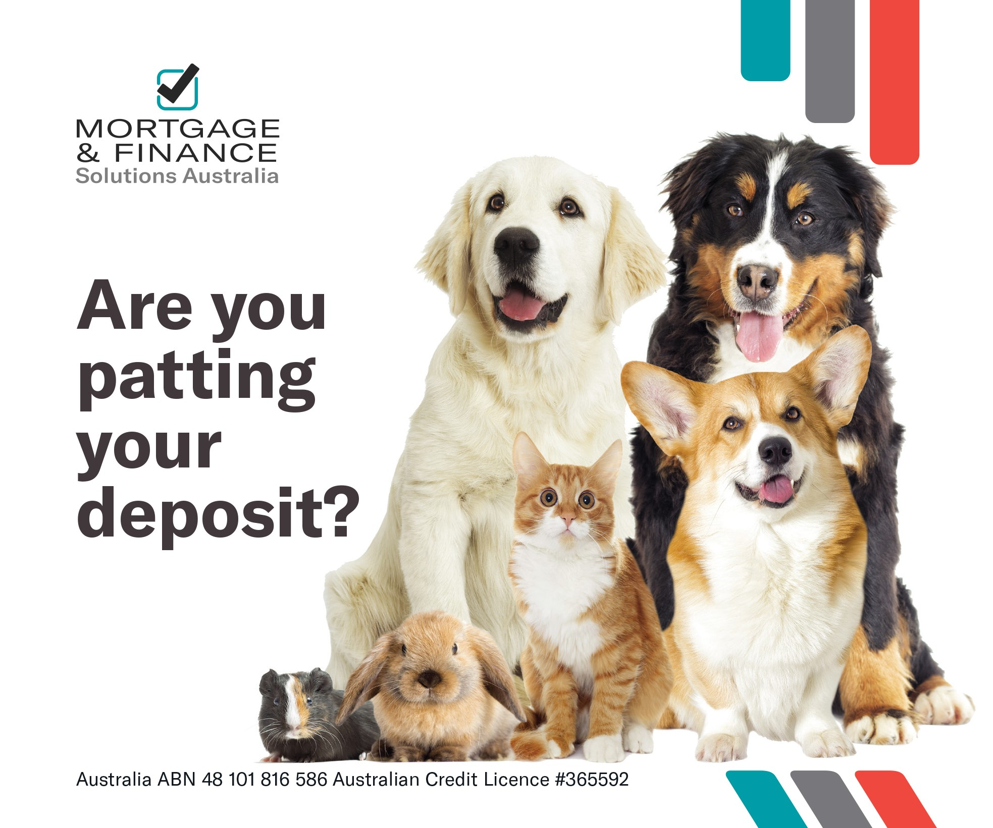 Are you patting YOUR DEPOSIT?