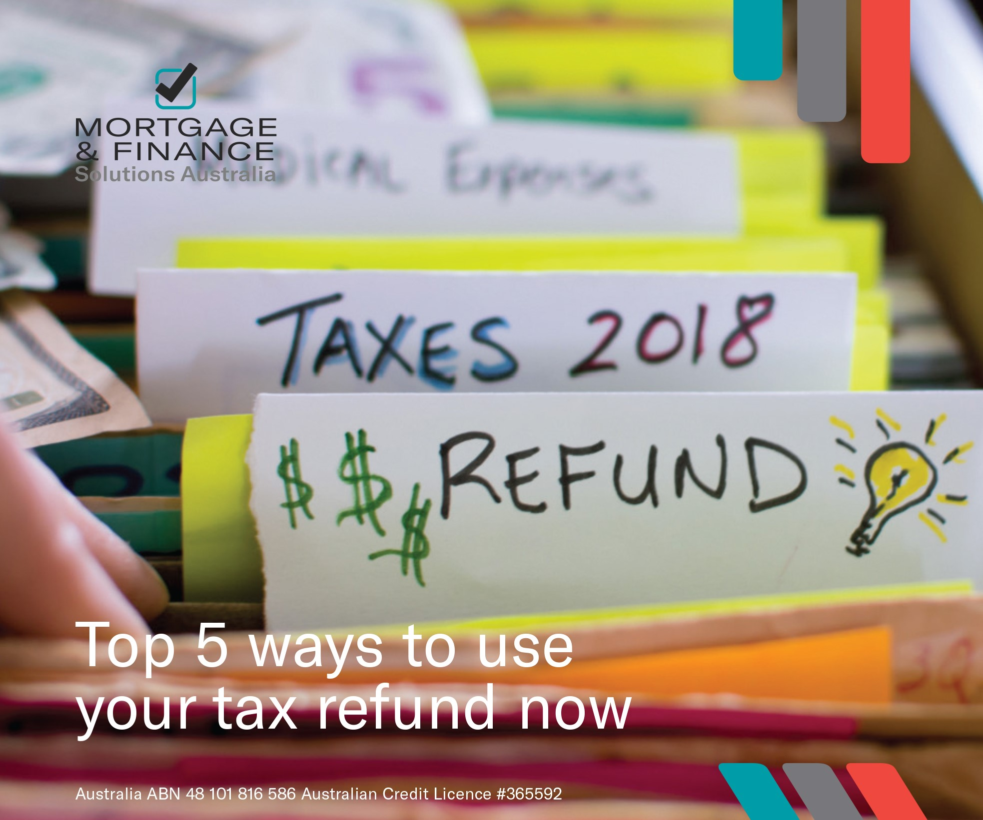 Top 5 ways to use your tax refund now